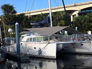 Forward Awning for Multihull Lagoon 440
