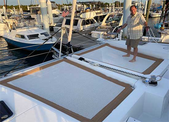 ATN Multihull Net- Lagoon 450 with Happy Owner