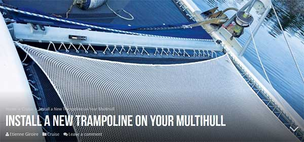 Install A New Trampoline on your Multihull