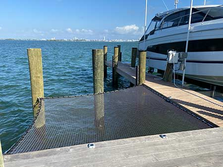 Architectural ATN Net Dock Extension in Miami Shores Florida