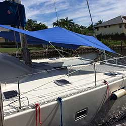 Forward Awning for Multihulls